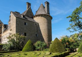 Chateau du Montal 037 - Castle and French Garden by HermitCrabStock