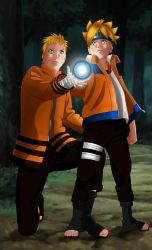 Naruto : Father and son by MimiSempai