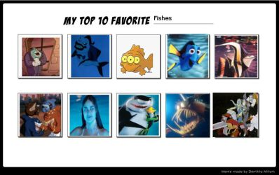 Top 10 Fishes by monstermaster13