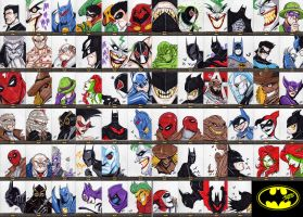 Batman: The Legend Sketch Cards by theMASman