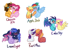 Mane 6 Ships by ThePegasisterPony