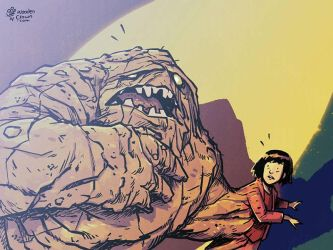 Clayface and Annie by TheWoodenKing