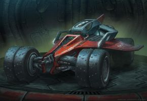Rock n' Roll Racing Airblade Concept by martydesign