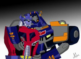 Sentinel x Optimus slash by xStarSaber