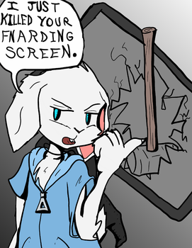 Pooky Killed Your Screen by Fragraham