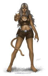 Commission: Cougar Girl by johnbecaro