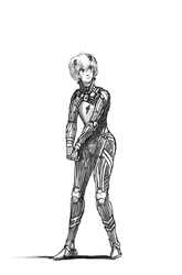 Nebula Rift Lur in naked life-suit by Ozo-is-o