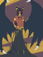 Full body Asmodeus by leviathanapophis