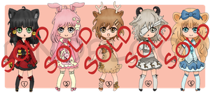 Adopt Set 7 *SOLD OUT* by dinoblood