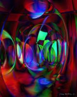 Reflections inside a Bubble Maze by CosmoWonderly
