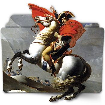 Napoleon Crossing Alps folder icon by zenoasis