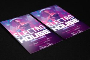 Electro House Flyer Free PSD Template by KlarensM