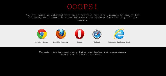 Older IE Message by rockers123