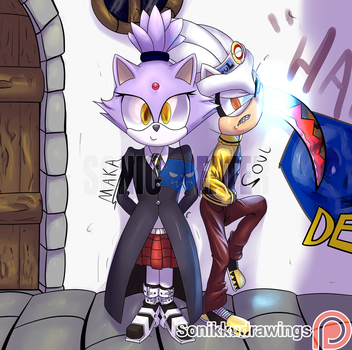 Sonic Eater - Silver and Blaze by Sonikkudrawings