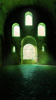 Old Crypta premade background by celairen-stock