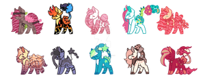 Batch o' Ponies CLOSED by BebopSparkles