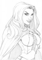 White Queen Emma Frost by Marc-F-Huizinga