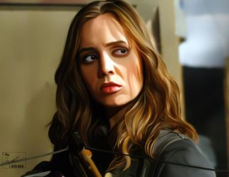 Faith Eliza Dushku Painting by frostdusk