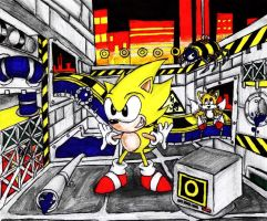 Super Sonic at Chemical Plant Zone by ajhockham