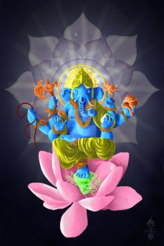 Ganesha - The Lotus and the Way by DruidCub