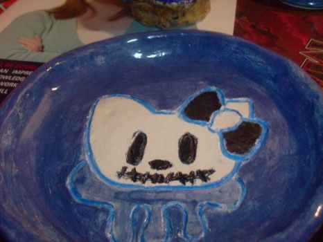 Kitty Plate. by hiddeninthelies6661
