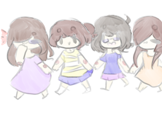 little kids (Stickers I guess??) by Meep879