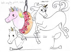 more Donut Unicorn designs by NanakoHarrison