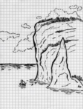 [Inktober 2017] (10th Day) Mighty Cliffs by KeplerDream