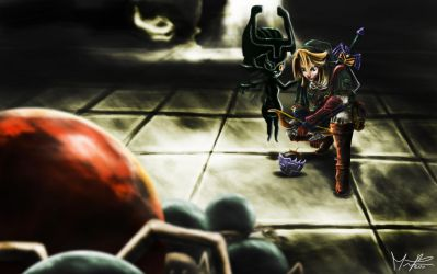 Link vs Armogohma 2nd part by marcosbaruco