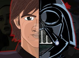 Star Wars Duality - Anakin Skywalker/Darth Vader by OptimumBuster