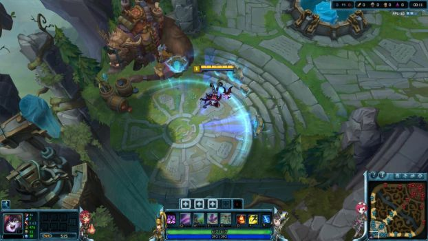 League of Legends Custom ingame HUD with Chibis by PumpkinAteKitty