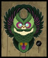 Flying Owl - Tattoo Design by SugarSkullCandy
