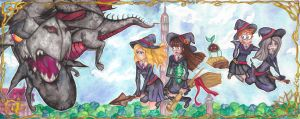 Little Witch Academia: Dragon attack! by Creative-Caro