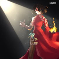 Angry Cinder by r-sugar