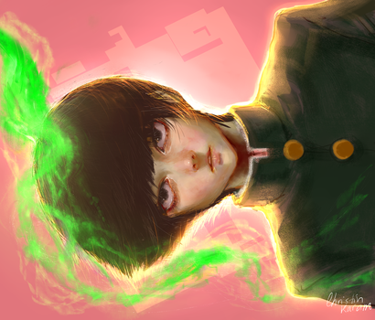 Mob Psycho 100 - Shigeo Kageyama (SpeedPaint) by Starrless-Obscurity