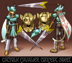 Catgirl Cavalier Concept Sheet by Severflame