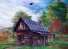 Log Cabin by djsykes