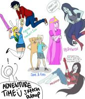 Adventure Time Sketch Dump by chloisssx3