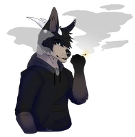 [COM] Smoking by Maple-Wolfbites