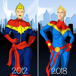 Draw it again. Captain Marvel by disposablepal
