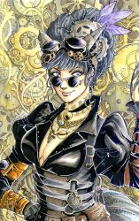 Steampunk Catwoman by tepaipascual