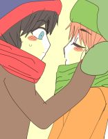 South park - Style  first kiss by steffanny