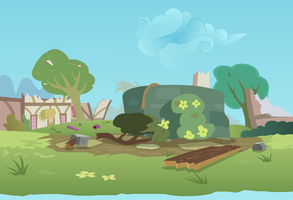 Ponyville Well Destroyed by oxinfree