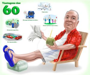 Caricature - Advantages of 60 by FelipeBriani