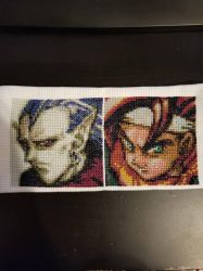 Magus and Crono Portraits Cross Stitch  by raerit