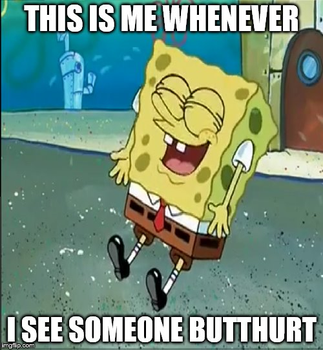 Spongebob Laughing Meme: Butthurt by G-Strike251