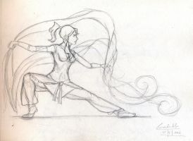 Korra: Bending like a Baws by MyTeaHasGrownCold