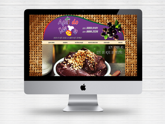 Layout site Acai do Mestre by Paloma182
