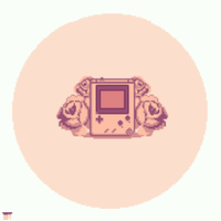 Gameboy and roses by 8bitnoob