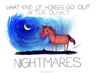 What kind of horses go out after dusk by arseniic